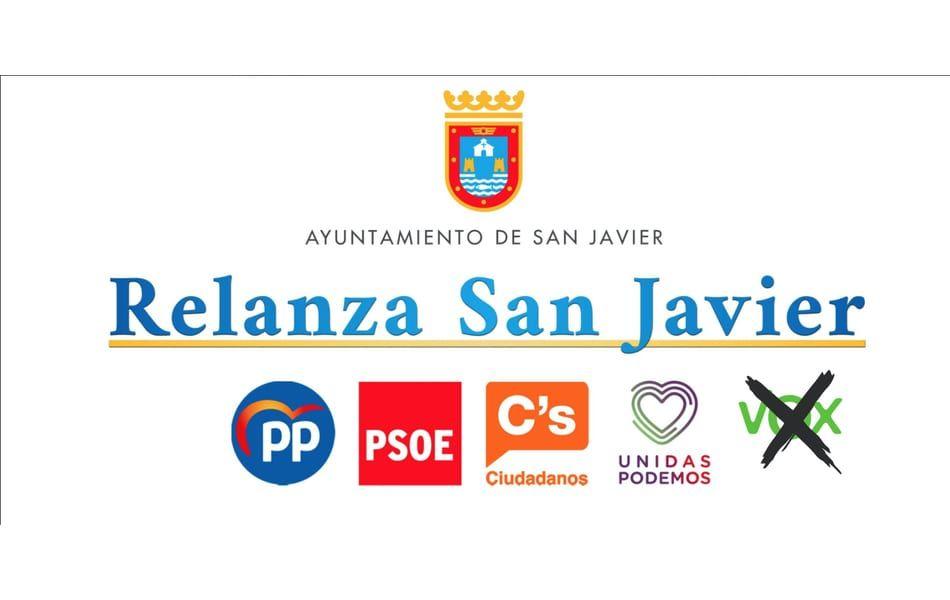 El Pleno del ayuntamiento refrenda el Pacto Relanza San Javier con una moción conjunta de todos los grupos excepto VOX