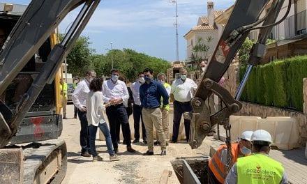 Las obras del colector de aguas pluviales del barrio de Los Pescadores en Santiago de la Ribera terminarán a mediados de junio 2020