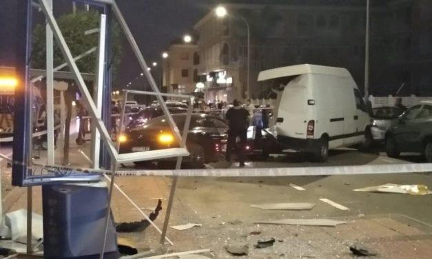 Cinco coches implicados en un aparatoso accidente de tráfico en Los Narejos