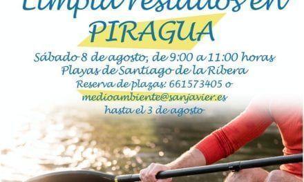 La concejalía de Juventud del Ayuntamiento de San Javier completa un evento de recogida de residuos en playas