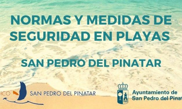 Normas y medidas de seguridad en las playas de San Pedro del Pinatar verano 2020