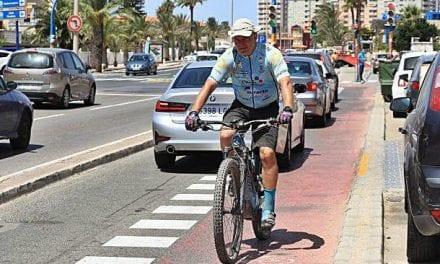 Amplían las sendas ciclistas de La Manga del Mar Menor