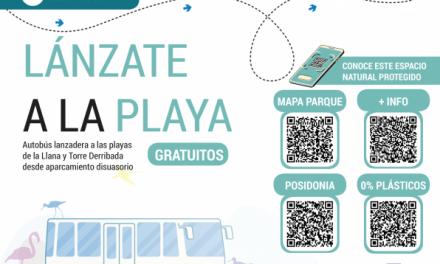 Continúa el servicio de autobús gratuito a las playas de La Llana y Torre Derribada durante el agosto 2020