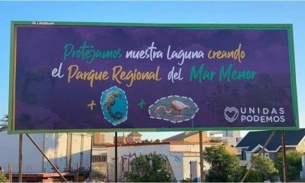 Unidas Podemos lanza una campaña para que el Mar Menor sea declarado Parque Regional