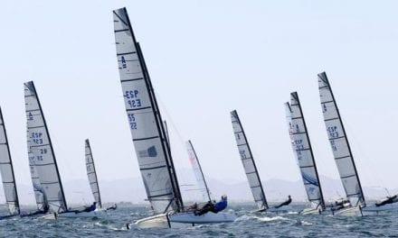 Los favoritos cumplen en la primera jornada del nacional de Catamaranes en La Manga del Mar Menor