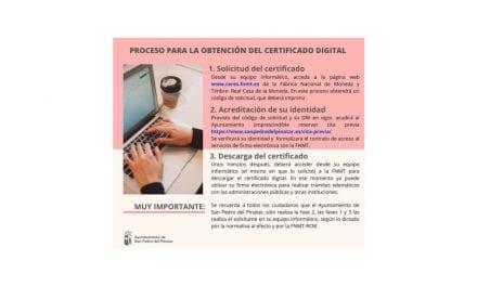 Obtener Certificado Digital en el Ayuntamiento de San Pedro del Pinatar