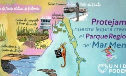 Unidas Podemos pone en marcha una página web  donde explica cómo se configuraría el Parque Regional del Mar Menor