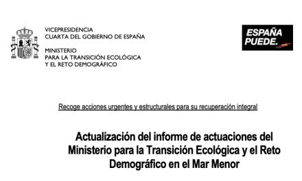 Actualización del informe de actuaciones del MITECO y el Reto Demográfico en el Mar Menor