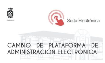 Cambio de plataforma de administración electrónica en Los Alcázares