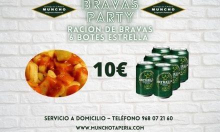 Oferta en Muncho Tapería, una ración de patatas bravas y seis botes de Estrella de Levante por solo 10 euros