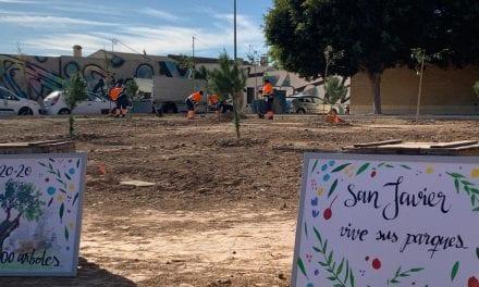 Se plantan 60 nuevos árboles en San Javier