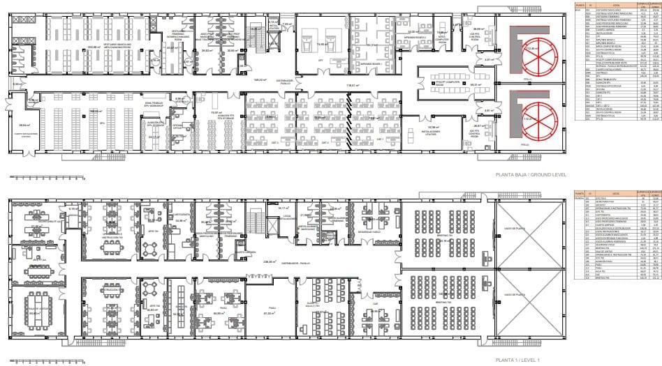 Academia General del Aire san Javier edificio ffaa y simulador distribución