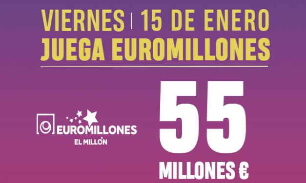 Jugar a botes de Euromillones online: bote de 55.000.000€, viernes 15 de enero 2021