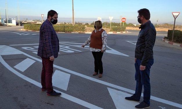 Continúan los trabajos de adecuación y mejora del Parque Empresarial de Los Alcázares