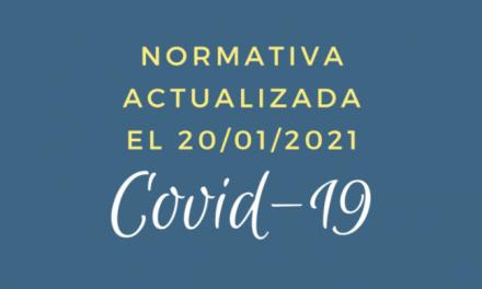 Normativa actualizada COVID-19 San Javier 20 de enero 2021