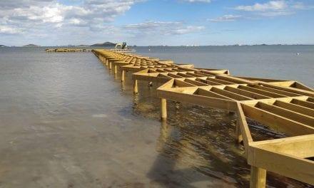 Los nuevos balnearios del Mar Menor estarán acabados para Semana Santa 2021