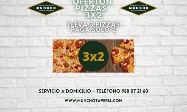 Oferta de la semana: Pizzas 3×2 en MunchoTaperia.com