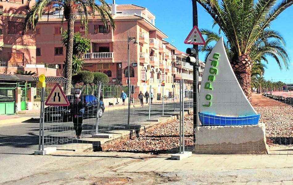 Las obras del paseo marítimo de Lo Pagán, a la espera del permiso de Costas
