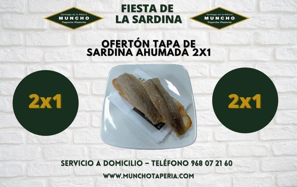 Ofertón tapa de sardina ahumada 2×1 en MunchoTaperia.com