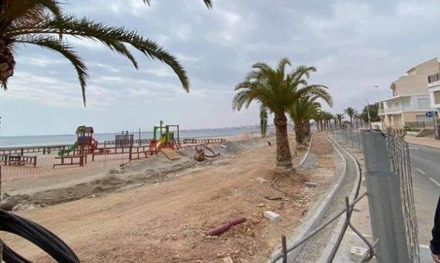 VOX San Pedro del Pinatar considera que el retraso de las obras de los paseos marítimos afectará al turismo