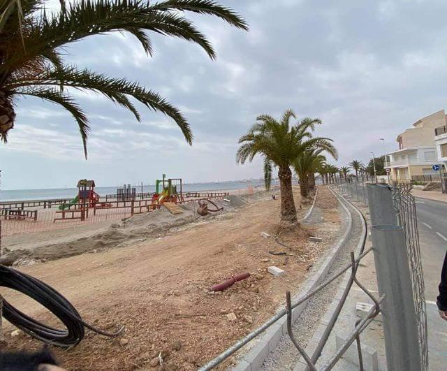 El Ayuntamiento de San Pedro del Pinatar trabaja para reactivar totalmente las obras de los paseos marítimos