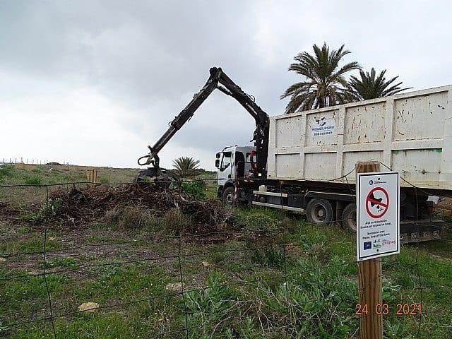 ANSE ha retirado más de 30 m3 de Especies Exóticas Invasoras en los arenales de San Pedro del Pinatar