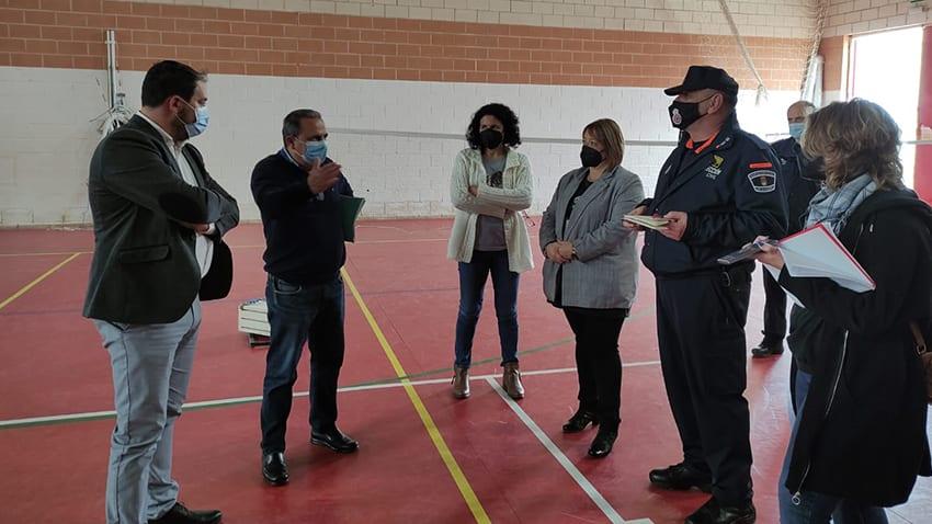 Salud Pública visita Los Alcázares para inspeccionar la idoneidad de posibles instalaciones donde llevar a cabo la vacunación masiva Covid-19