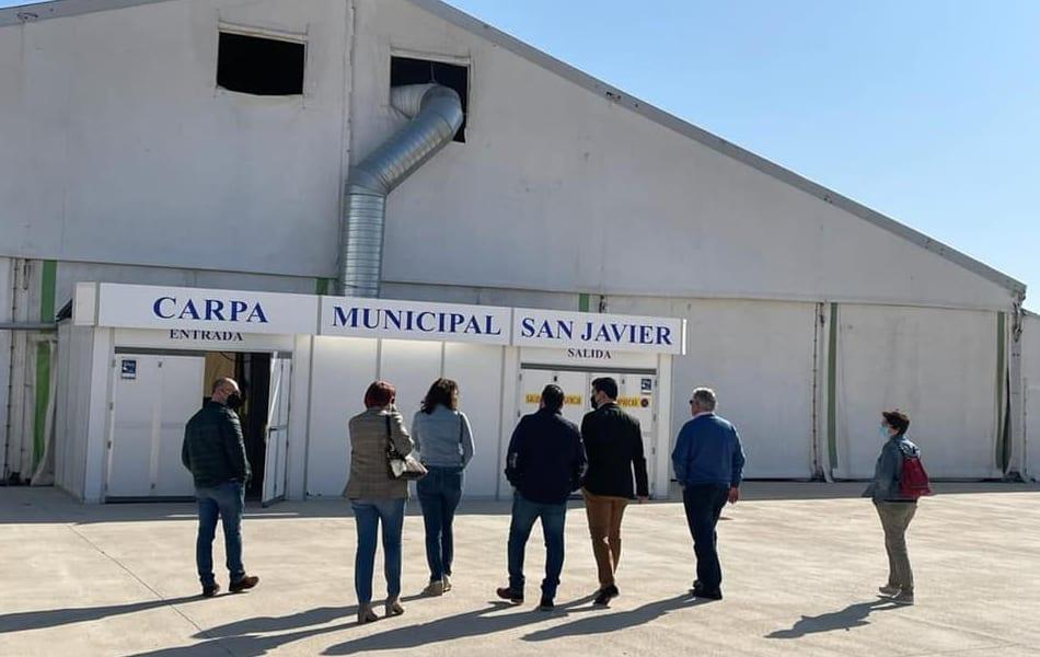 Vacunación masiva COVID-19  en El recinto ferial de San Javier